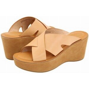 Kork-Ease Lana Leather Criss Cross Platform Sandal
